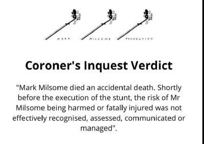 Mark Milsome Coroner's Inquest Verdict